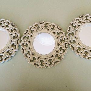 Set of 3 Decorative mirrors